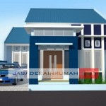Rumah Simple Biru di Batam